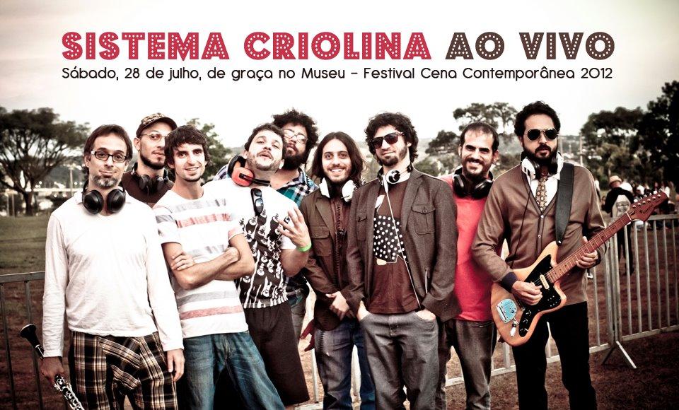 Sistema Criolina ao Vivo Festival Cena Contemporânea 2012 flier